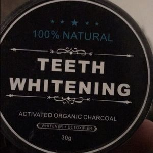 100% organic charcoal teeth whitening powder